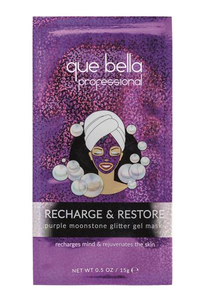 Recharge and Restore Moonstone Glitter Facial Mask by Que Bella Beauty