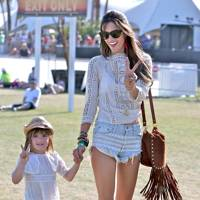 Alessandra Ambrosio and Anja Mazur at Coachella
