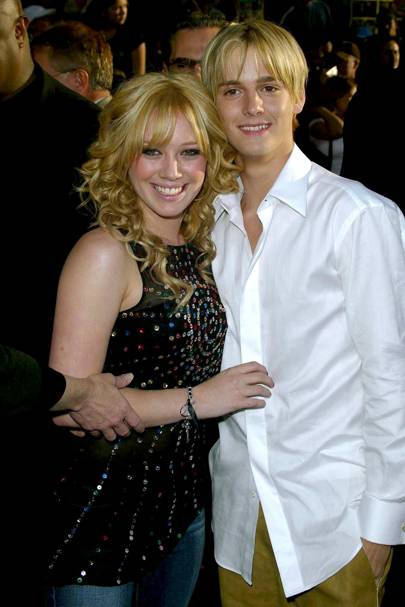 Aaron Carter & Hilary Duff