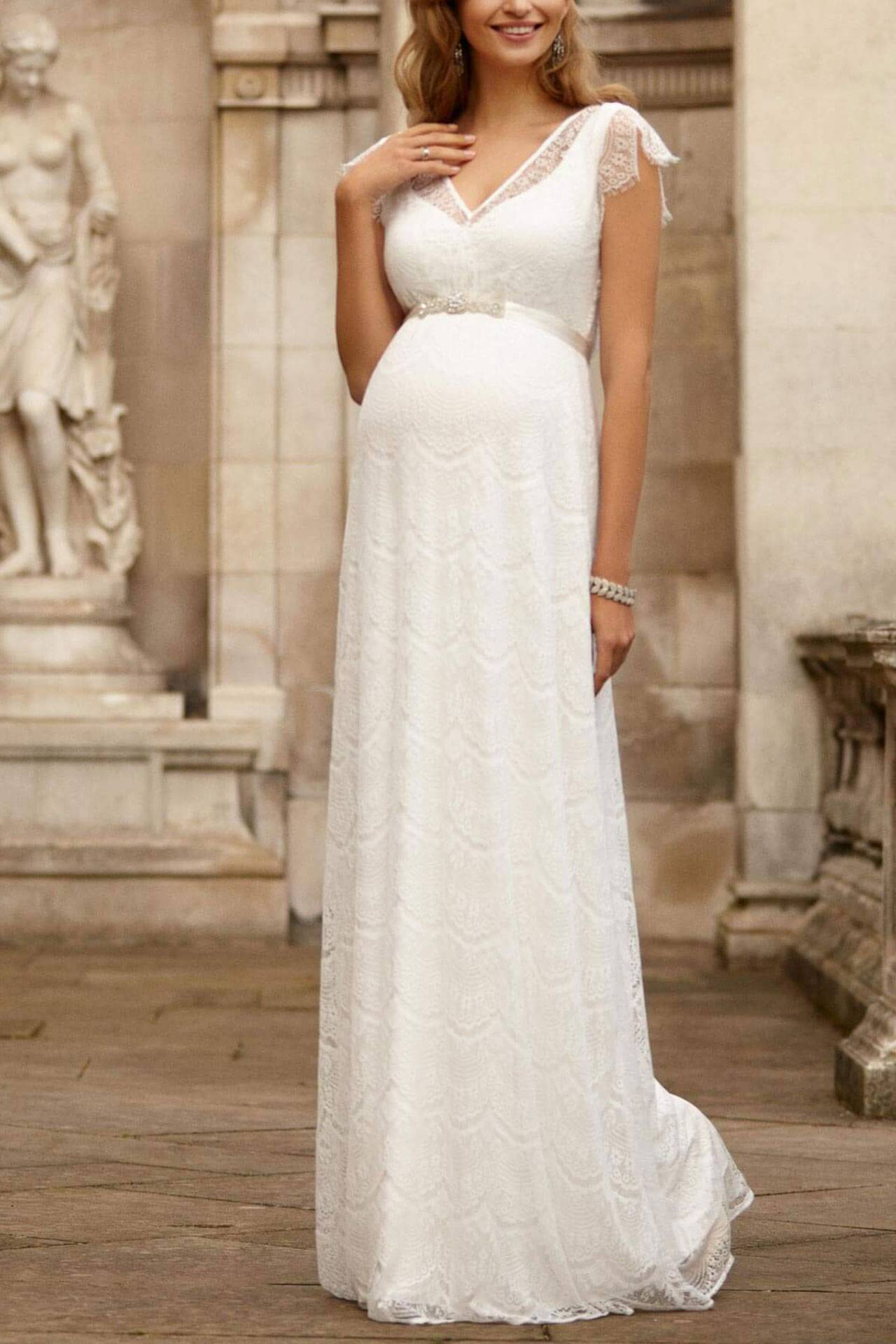 20 Maternity Wedding Dresses Beautiful Maternity Bridal Gowns ...