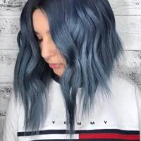 Uneven bob for thick hair