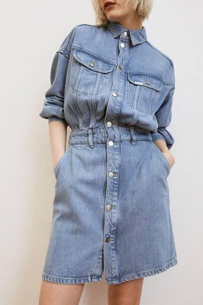 Best Shirt Demin Dress - H&M