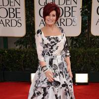 Sharon Osbourne at the Golden Globes 2012