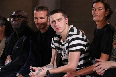 Beckhams front row for Victoria's NY fashion Week show