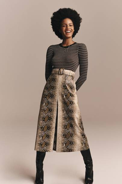 9: THE LOOK'S HIGHLIGHT: The snake-print midi