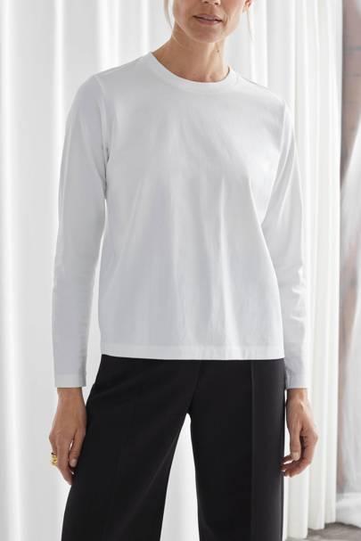 Best white t-shirt women: the long-sleeved tee