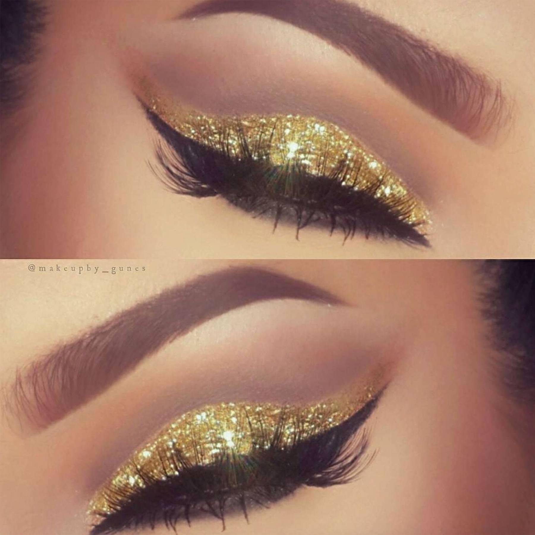 Best Glitter Makeup Looks 2016 Instagram Inspiration Glamour Uk
