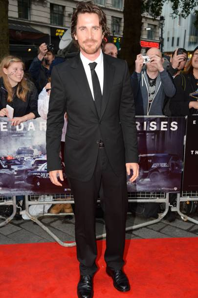Christian Bale at The Dark Knight Rises premiere
