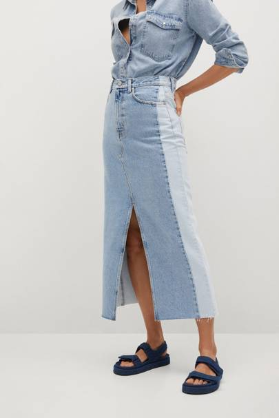 Mango Sustainable Denim Collection: the skirt