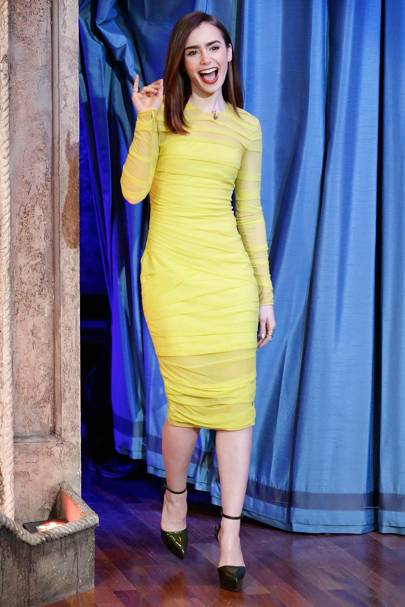 H m acid yellow dress baby
