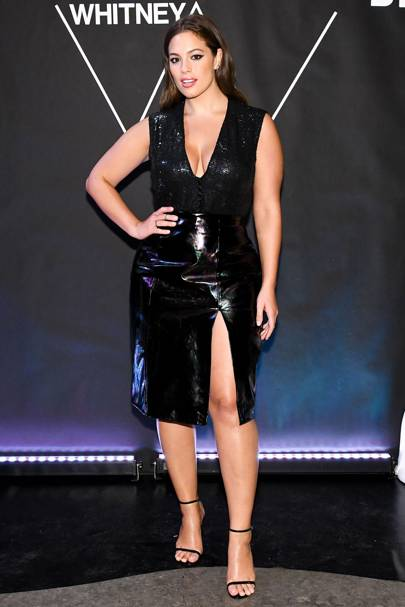 Vinyl Trend Celebrities Wearing Latex Dresses Trousers