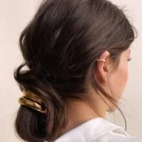 Gold-adorned chignon