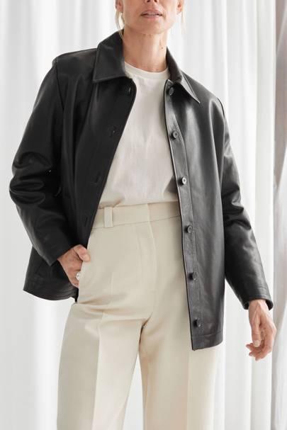 Leather coats: the padded jacket