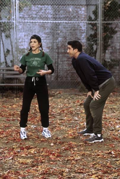 Rachel's athleisure debut