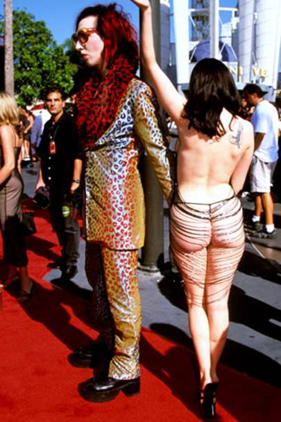 15. Rose McGowan's stringy outfit