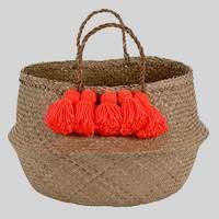 Neon tassel basket