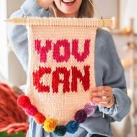 Wall knitting kit