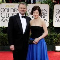 Hugh Bonneville and Elizabeth McGovern at Golden Globes 2012