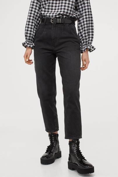 Best Black Jeans - Pleat Front