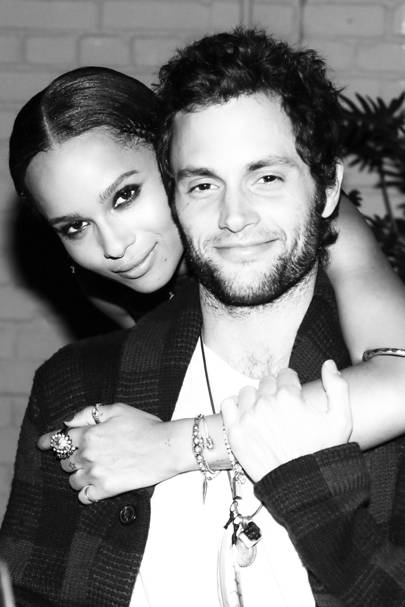 Penn Badgley & Zoe Kravitz