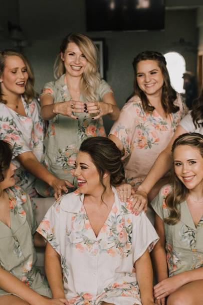 Bridesmaid pyjamas: the floral pyjama sets