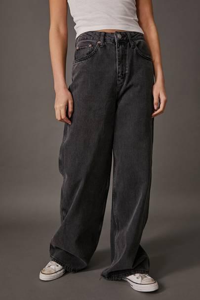 Best Black Jeans - Super Wide