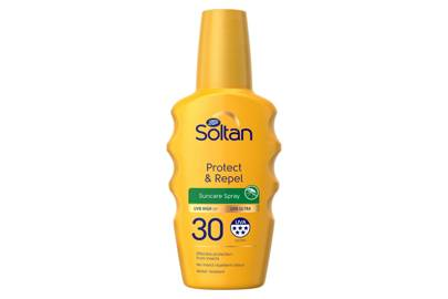 The product: Protect & Repel Spray SPF30, £6.50, Soltan