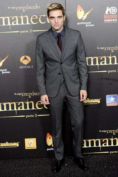 Robert Pattinson at the Spanish premiere of Breaking Dawn 2