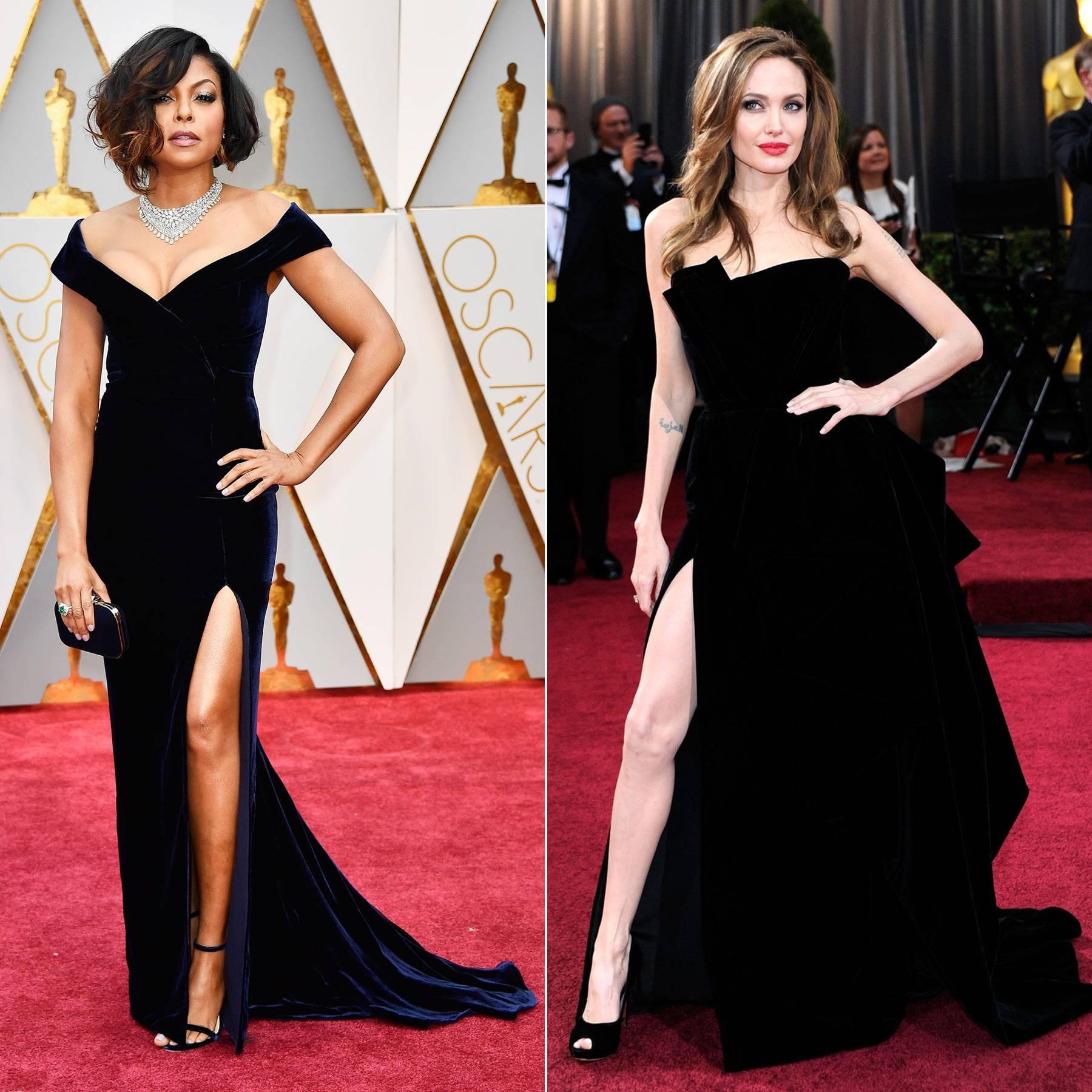 Angelina Jolies Leg At Oscars 2012 Celebrity Poses Glamour Uk Jolie Clothing Jamie Long Dress