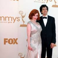 Christina Hendricks and husband at the Emmys