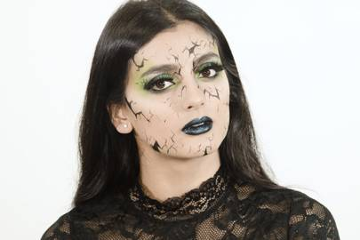 if its a spooky look youre after below weve created a super quick and easy green witch makeup look complete with green smoky eyes chrome lips and a