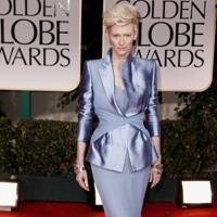 Tilda Swinton at the Golden Globes 2012