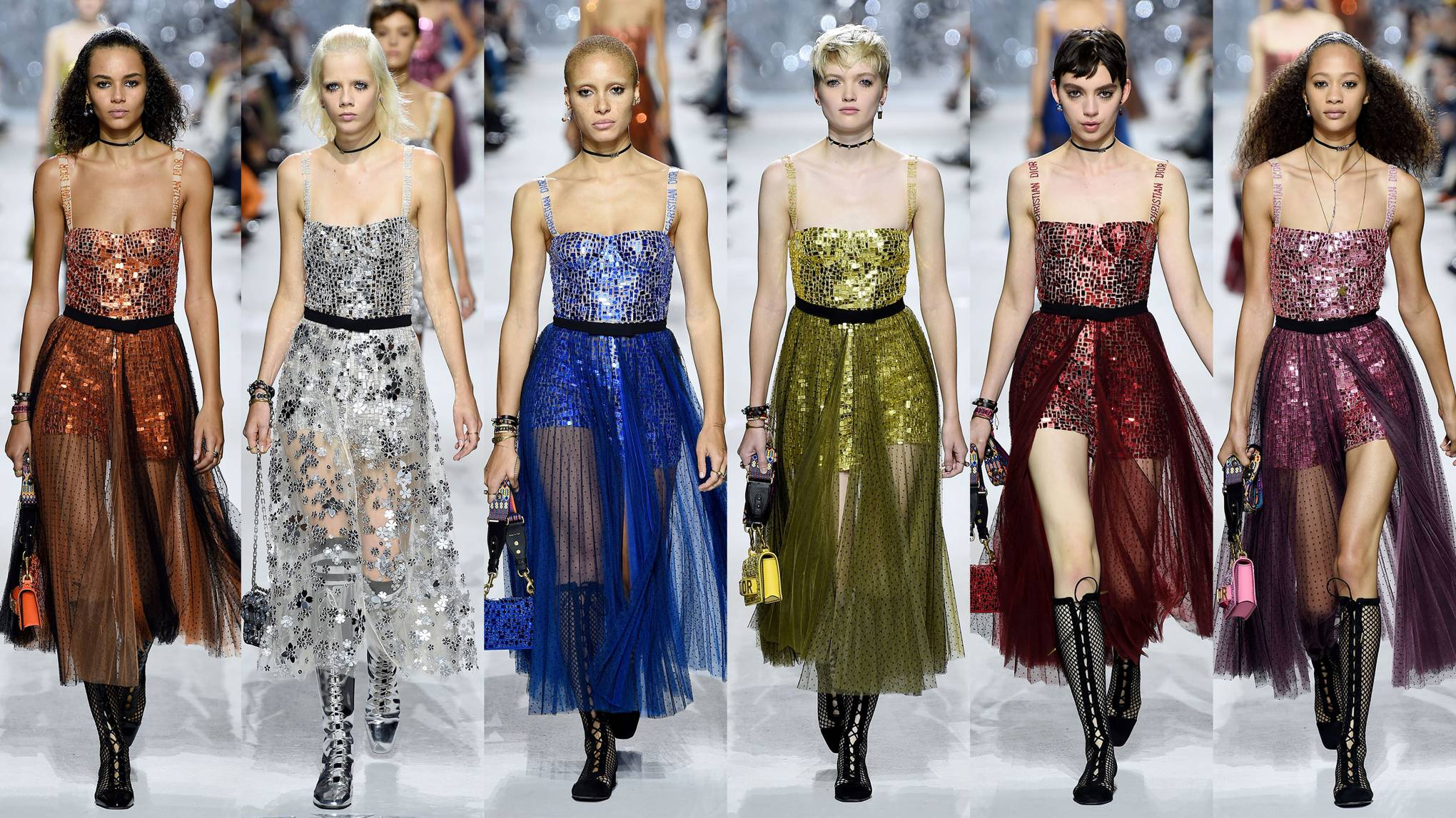 release date authentic quality sold worldwide Dior Mirrored Dresses Spring Summer 2018 Show | Glamour UK