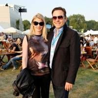 Lara Stone and David Walliams at the Barclaycard British Summer Time Concert