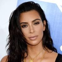 Kim Kardashian's wet-look waves