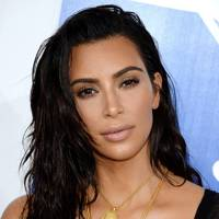 Kim Kardashian's wet-look waves