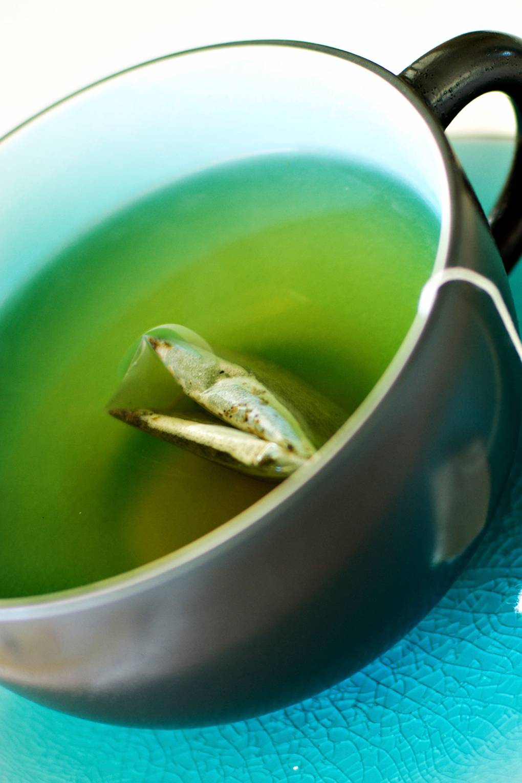 Aliment contre la cellulite avec du thé vert
