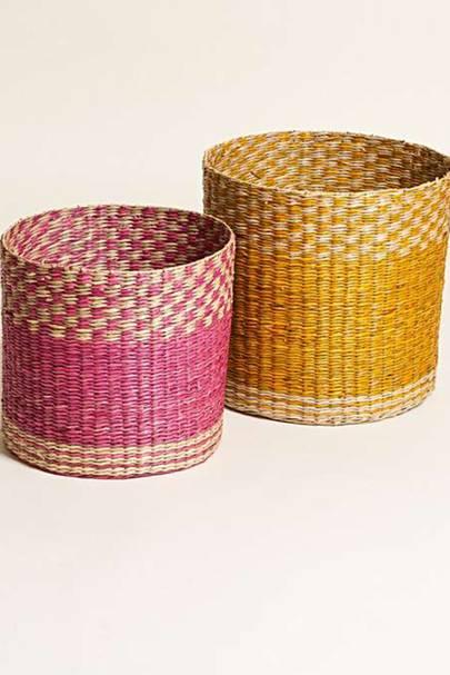 Best storage solutions: the colour-pop baskets