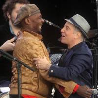 Paul Simon and Jimmy Cliff at Hard Rock Calling 2012
