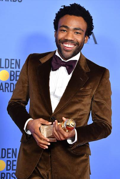 He's a Golden Globe winner