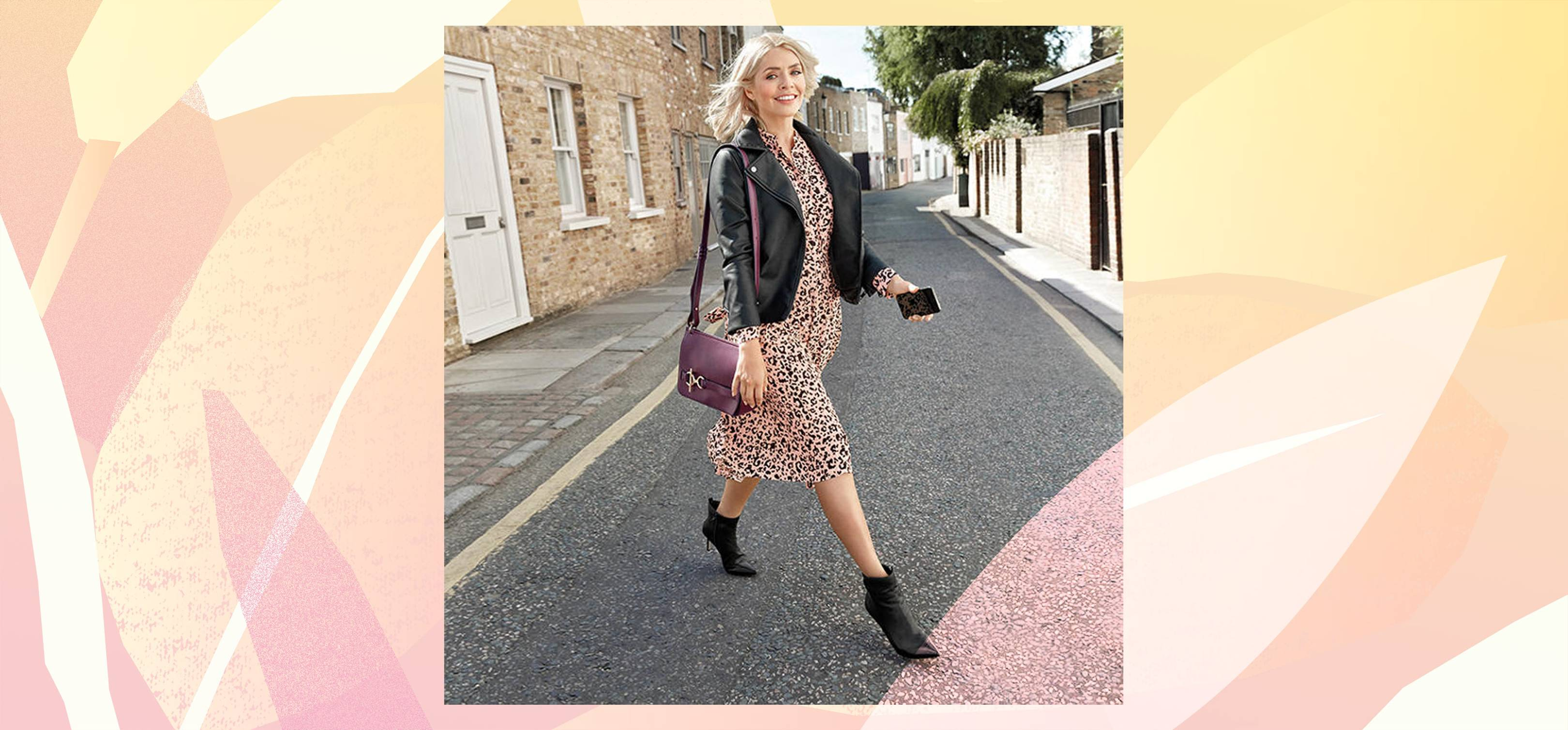 f3c15def07f Holly Willoughby Marks and Spencer Leopard Print Dress Sold For Double On  eBay | Glamour UK