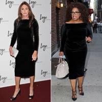 Black velvet dress: Caitlyn or Oprah