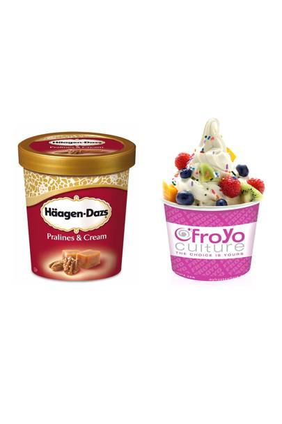 Ice cream vs fat-free frozen yogurt