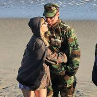 Bradley Cooper & Suki Waterhouse in American Sniper