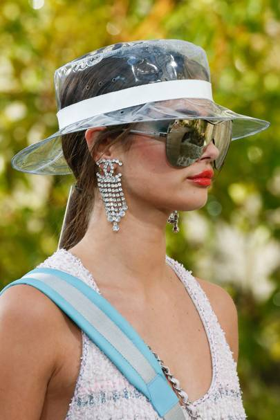 e094a92d0b1 Chanel brought the bling to the SS18 show with these diamond earrings in  the French house s signature logo.