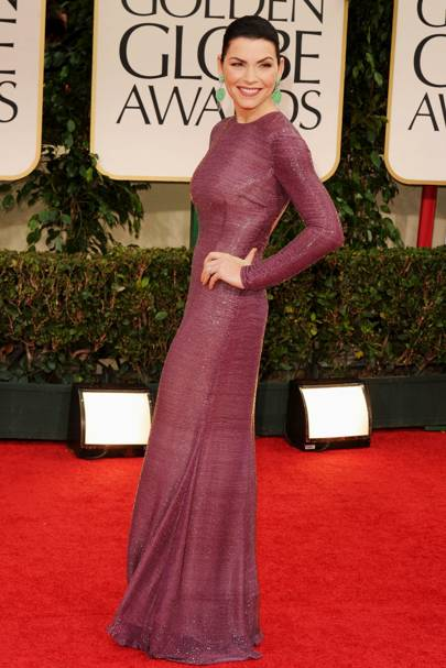Julianna Margulies at the Golden Globes 2012