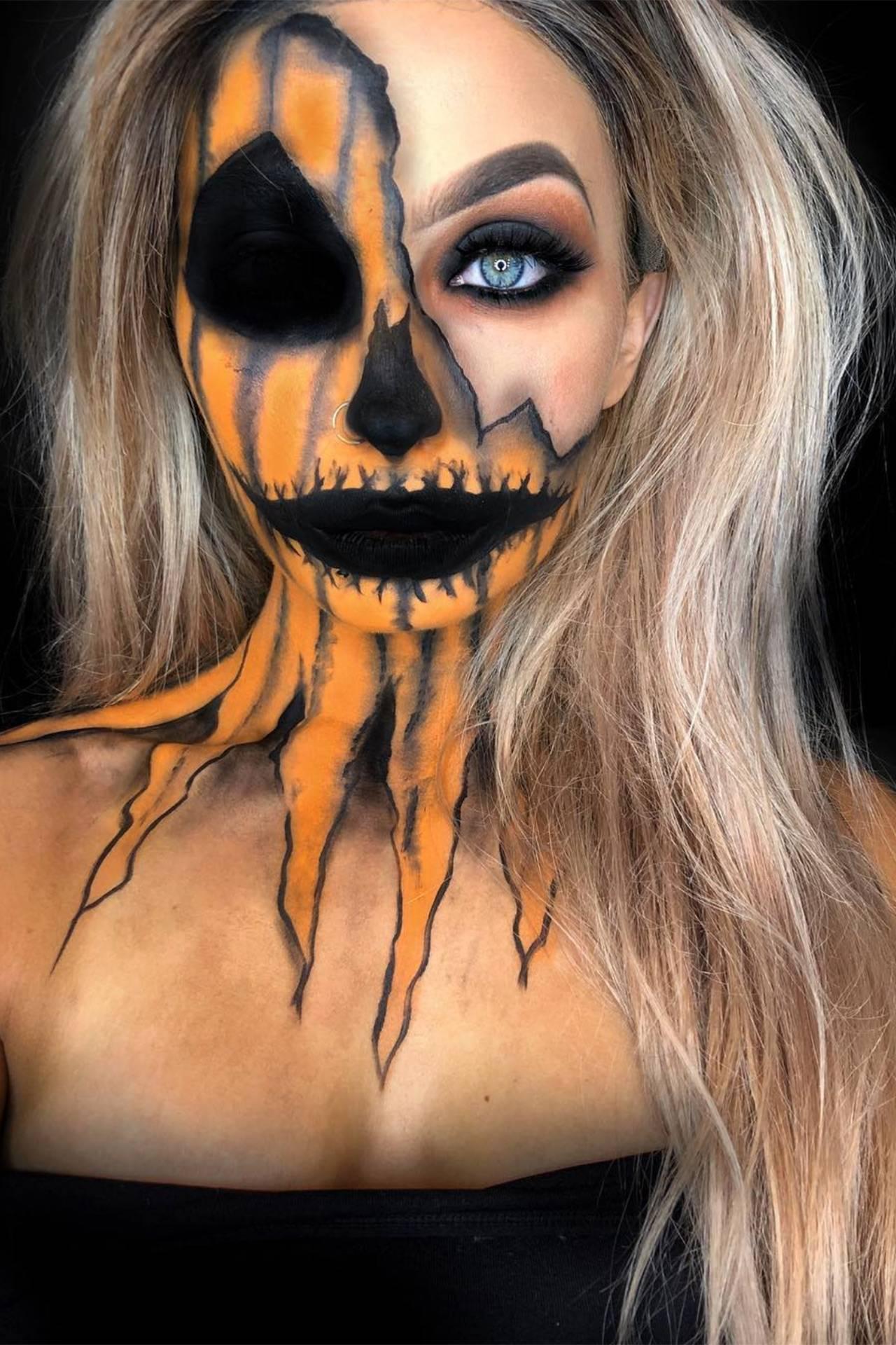Halloween Makeup Creepy.Halloween Makeup Ideas 2020 Easy Tutorials Instagram Ideas Glamour Uk