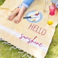Cotton picnic blanket