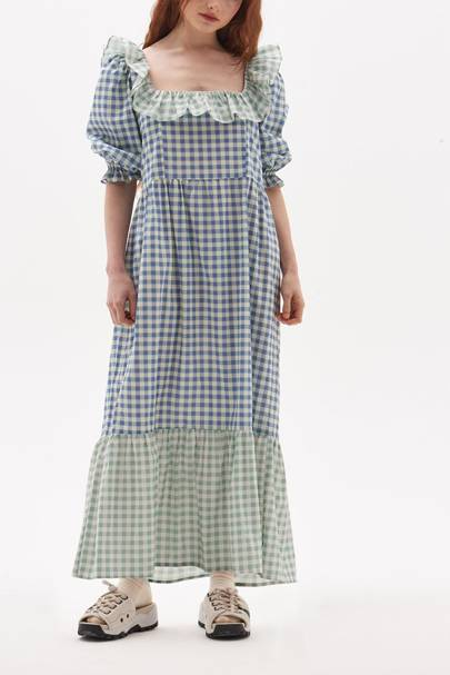 SUMMER DRESSES FOR BIG BOOBS: The Checked Smock