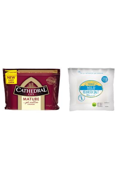Cheddar vs low-fat cheddar
